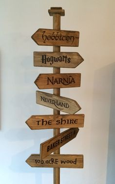 'Fantasy Street Sign' - Hobbiton, Hogwarts, Narnia, Neverland, The Shire, Baker Street & 100 Acre Wood