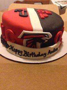 Atlanta Falcon S Birthday Cake Hubby Ideas Pinterest
