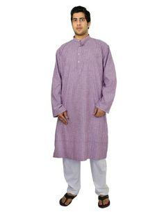 kurta pajama set for men Indian dress for summer purple black striped , size L ShalinIndia,http://www.amazon.com/dp/B00J4LF1P0/ref=cm_sw_r_pi_dp_JigHtb04CVZ8JMZK