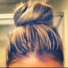 Bringing the sock bun back. High school throwback made modern by making it not so neat. I'm totes obsessed.