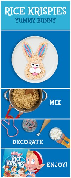 Have simple kitchen fun this Easter crafting Rice Krispies Treats! You can have a delicious snack in just three easy steps. And once you mix together a pan of inspiration, you have endless treat possibilities for the whole family. Get some decorations, and let your creativity take off!