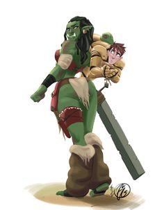 Spoils of War by phantomthepencil on DeviantArt Female Character Design, Character Design Inspiration, Character Concept, Character Art, Dungeons And Dragons Characters, Fantasy Characters, Female Orc, Goblin Art, Super Anime