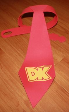 Donkey Kong Tie for selfie station Birthday Games, 6th Birthday Parties, Man Birthday, Party Props, Party Games, Party Ideas, Nintendo Party, Video Game Party, Mario Party
