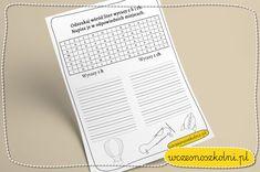 Wykreślanka z H i CH - Nauczyciele wczesnoszkolni! Bullet Journal, Personalized Items, A3