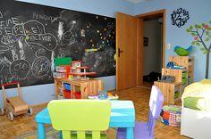 chalkboard paint ideas for kids room | ... magnet paint topped by two coats of chalkboard paint the kids love it