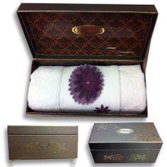 Бамбуковый полотенце в эксклюзивным упаковке Hobby www.gizatekstil.com