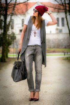 Long pinstripe waistcoat | Women's Look | ASOS Fashion Finder