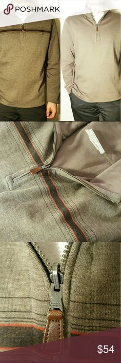 NWOT Banana Republic Reversible Pullover Banana Republic Reversible Pullover  Can be worn two ways Light sweater  Size XL 95% Cotton 5% Nylon Colors: Shades of brown, dark brown with red stripes across chest on one side New without tag Banana Republic Sweaters