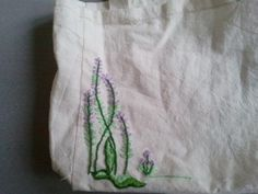 lavender embroidery, bag
