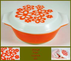 vintage orange lidded pyrex casserole dish by H is for Home, via Flickr