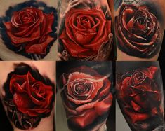 realistic+red+rose+tattoo+paisley.jpg (2048×1630)