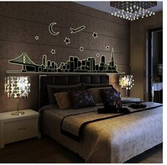 MYL Fashionable Seller-Luminous Environmental Removable City Scenery PVC Wall Sticker -- Awesome products selected by Anna Churchill