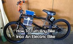 How To Turn Any Bike Into An Electric Bike - I would take this once step further tho and make a full size adult bike and use solar panels to charge the batteries, so I would use deep cycle batteries (space permitted, obviously).
