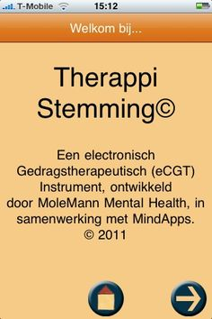 MoleMann Mental Health heeft de eerste Nederlandstalige applicatie voor iPhone, iPod en iPad ontwikkeld voor de behandeling van depressieve klachten. Een gratis app die depressieve klachten aanpakt: dat is Therappi Stemming. De app is ontwikkeld door ervaren therapeuten.