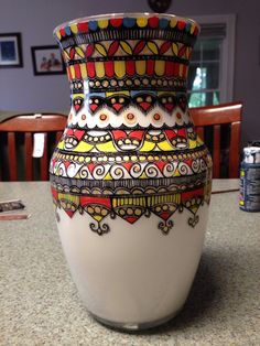 Handpainted vase Inspired by Deepti Designs
