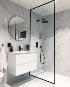 bathroom ideas * bathroom ideas _ bathroom ideas small _ bathroom ideas on a budget _ bathroom ideas modern _ bathroom ideas apartment _ bathroom ideas master _ bathroom ideas diy _ bathroom ideas small on a budget Bathroom Design Luxury, Modern Bathroom Design, Modern Bathrooms, Master Bathrooms, Minimal Bathroom, Boho Bathroom, Bathroom Mirrors, Dream Bathrooms, Bathroom Designs