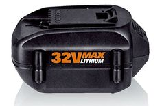 WORX WA3537 MAX Lithium 20 Ah Battery Replacement for Models WG175 WG575 WG5751 and WG924 32volt >>> Click on the image for additional details. This is Amazon affiliate link.