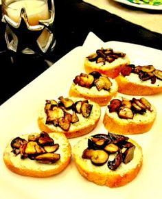 Young and Entertaining: Mushroom & Boursin Crostini