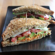"34 Vegan Lunches You Can Take to Work: Whether you follow the ""vegan before 6 p.m."" #vegan #sandwich"