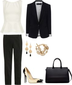 Incorporating a peplum into your office attire -- for a formal or conservative workplace