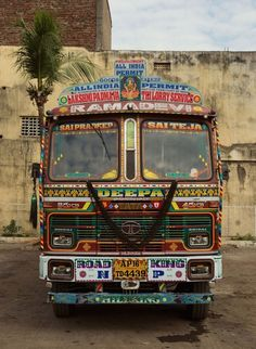 Indian Technicolor Trucks Photography-29