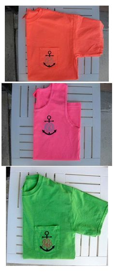 Monogrammed Comfort Colors Anchor Monogram via Etsy