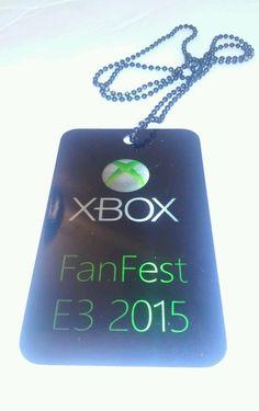 Microsoft Xbox E3 2015 Fan Fest Metal Dog Tag - Rare - Exclusive