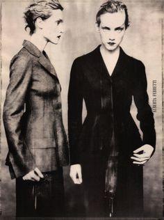 jinxproof:  Lida & Alexandra Egorova for Alberta Ferretti, F/W 1998ph. Paolo Roversi