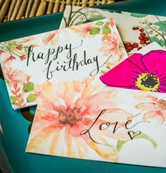 Floral Greeting Card Printables from The Prudent Garden