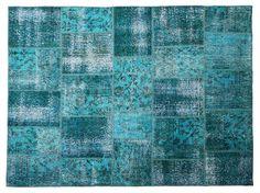 Turquesa a mano alfombras patchwork( 94.5x66.9 pulgadas)-imagen-Alfombras-Identificación del producto:138401506-spanish.alibaba.com