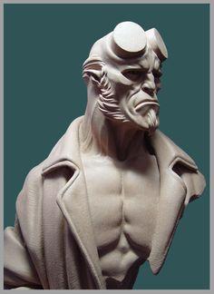 Resultado de imagem para 3d sculpture HELLBOY