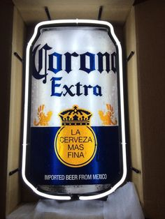 "Corona Extra Beer Can Neon Sign Man Cave Bar Garage 29"" X 17"""
