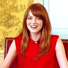 emma stone....winks...bites her lip, dammit boy!!!