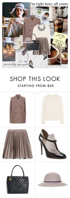 """""""Coffee please.."""" by rainie-minnie ❤ liked on Polyvore featuring Coffee Shop, Miu Miu, Chloé, RED Valentino, Valentino, Chanel, Topshop and DANNIJO"""
