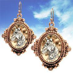Western Cameo earrings