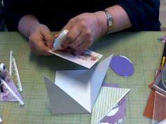 Schuin gesneden kaart - YouTube Diy Cards, Origami, Christmas Cards, Scrapbook, Youtube, Fun, Handmade, Tutorials, Shapes