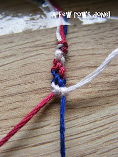 Heron's Crafts: Friendship Bracelet Tutorial. I made these too when I was a kid! Need to learn again