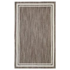 null Border Loop Taupe Cream 8 ft. x 10 ft. Area Rug