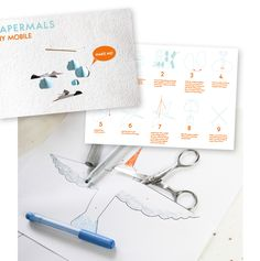 How is the summer treating you? Long sunny days at the beach or stuck inside while the rain is pouring down? No worries, we have the perfect thing for you to do! With this template by Emma Eklund, you can create your own beautiful bird mobile! Link to PDF on our blog.