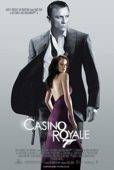 """007 #22 2006 Casino Royal character poster Vesper • after 4 yr absence! • Bond: Daniel Craig (UK) (his 1st, 6th to act as JB) (came to Bond from 2005 Munich + 2004 Layer Cake despite controversy as most unlikely """"James Bland"""" but support by all JB actors) • BondGirls: Eva Green (Fr-Swe-Algerian) as Vesper Lynd & Caterina Murino (Italy) as Solange & Ivana Milicevic (Sarajevo) as Valenka • Evil: Mads Mikkelsen as Le Chiffre • M = Judi Dench (5th) • theme song """"You know my name"""" by Chris…"""