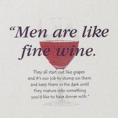 men and wine