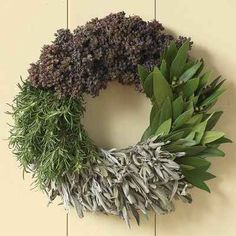 Cooking Herbs - great gift for a chef! I bet this wreath smells goooooood! | 50 Unexpected Wreaths You Can Make Out Of Anything