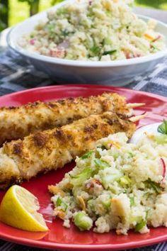 Jogurtový kuskus salát s kokosovým kuřetem | Vím, co jím Baked Potato, Potato Salad, Potatoes, Baking, Ethnic Recipes, Fit, Shape, Potato, Bakken