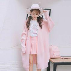 Una chica llamada TN desea ser una idol desde pequeña, ella luchará a… #fanfic # Fanfic # amreading # books # wattpad Pink Outfits, Mode Outfits, Fashion Outfits, Fashion Tips, Fashion Design, Japanese Outfits, Korean Outfits, Japanese Fashion, Harajuku Mode