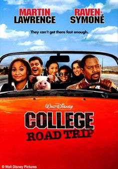 College Road Trip on DVD July 2008 starring Martin Lawrence, Raven Symone, Will Sasso, Donny Osmond. Choosing which college to attend can be the most exciting and thrilling time of a young woman's life.unless your overprotective father isn Road Trip Movie, College Road Trip, Road Trips, See Movie, Movie Tv, Movie List, Raven Symone, Martin Lawrence, Disney College