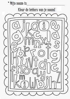 * Kleur de letters van je naam!