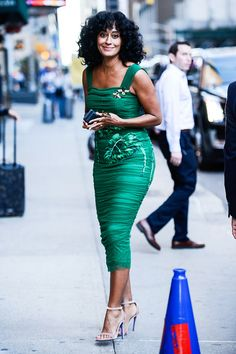 """soph-okonedo: """"  Tracee Ellis Ross leaves 'The Late Show With Stephen Colbert' taping at the Ed Sullivan Theater on September 15, 2016 in New York City """""""
