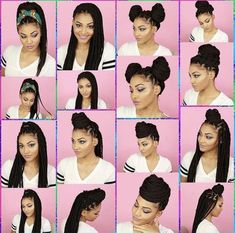Long Box Braids: 67 Hairstyles To Upgrade Your Box Braids - Hairstyles Trends Box Braids Updo, Medium Hair Braids, Box Braids Styling, Medium Hair Styles, Curly Hair Styles, Natural Hair Styles, Braided Hairstyles Updo, Box Braids Hairstyles For Black Women, African Braids Hairstyles