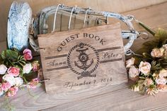 Wood Wedding Guestbook Rustic Wedding Guestbook Guest by woodlack, $45.00