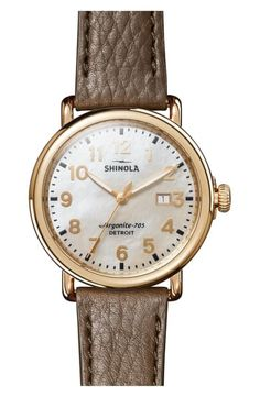 Great for Shinola 'Runwell' Leather Strap Watch, Womens Fashion Jewelry from top store Shinola Runwell, Fashion Jewelry, Women Jewelry, Initial Pendant Necklace, Leather Watch Bands, Women's Accessories, Watches, Style, House